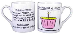 edward monkton- the power of cake mug