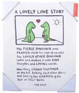 edward monkton - lovely love story canvas