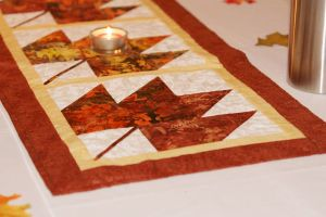 autumn fall patchwork table runner